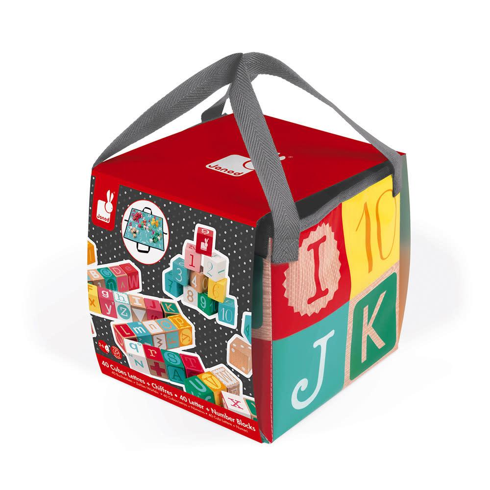 JuraToys Kubix 40 Letter & Number Blocks