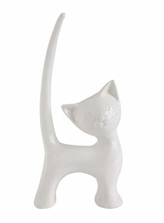 Creative Co-Op Stoneware Cat Ring Holder