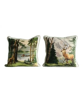 "Creative Co-Op 16"" Square Cotton Pillow"