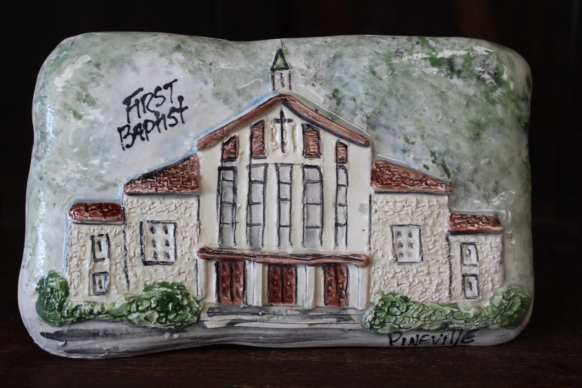 Architectural Memories First Baptist Church Plaque