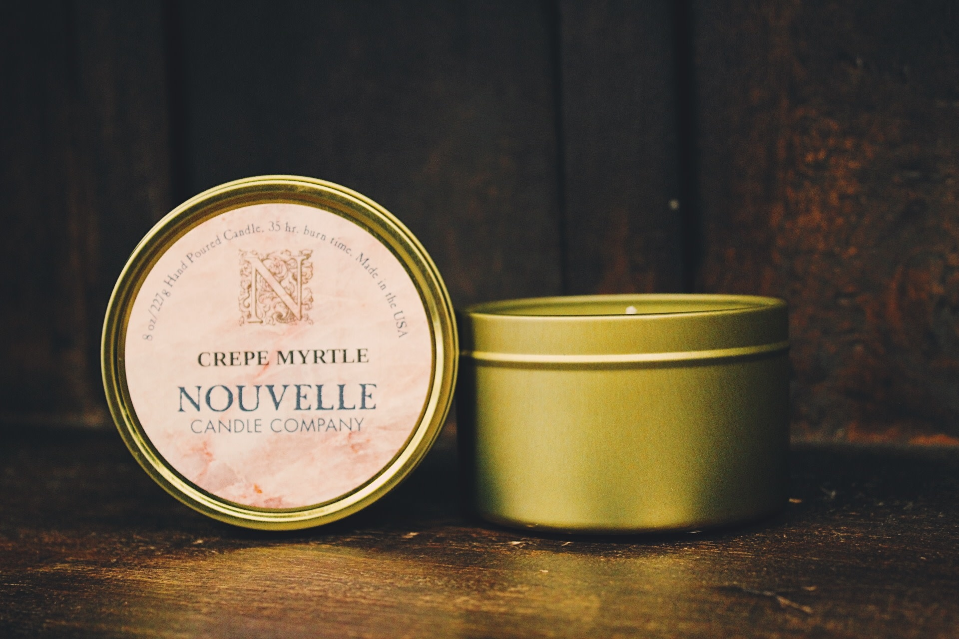 Nouvelle Candle Company Crepe Myrtle Travel Tin