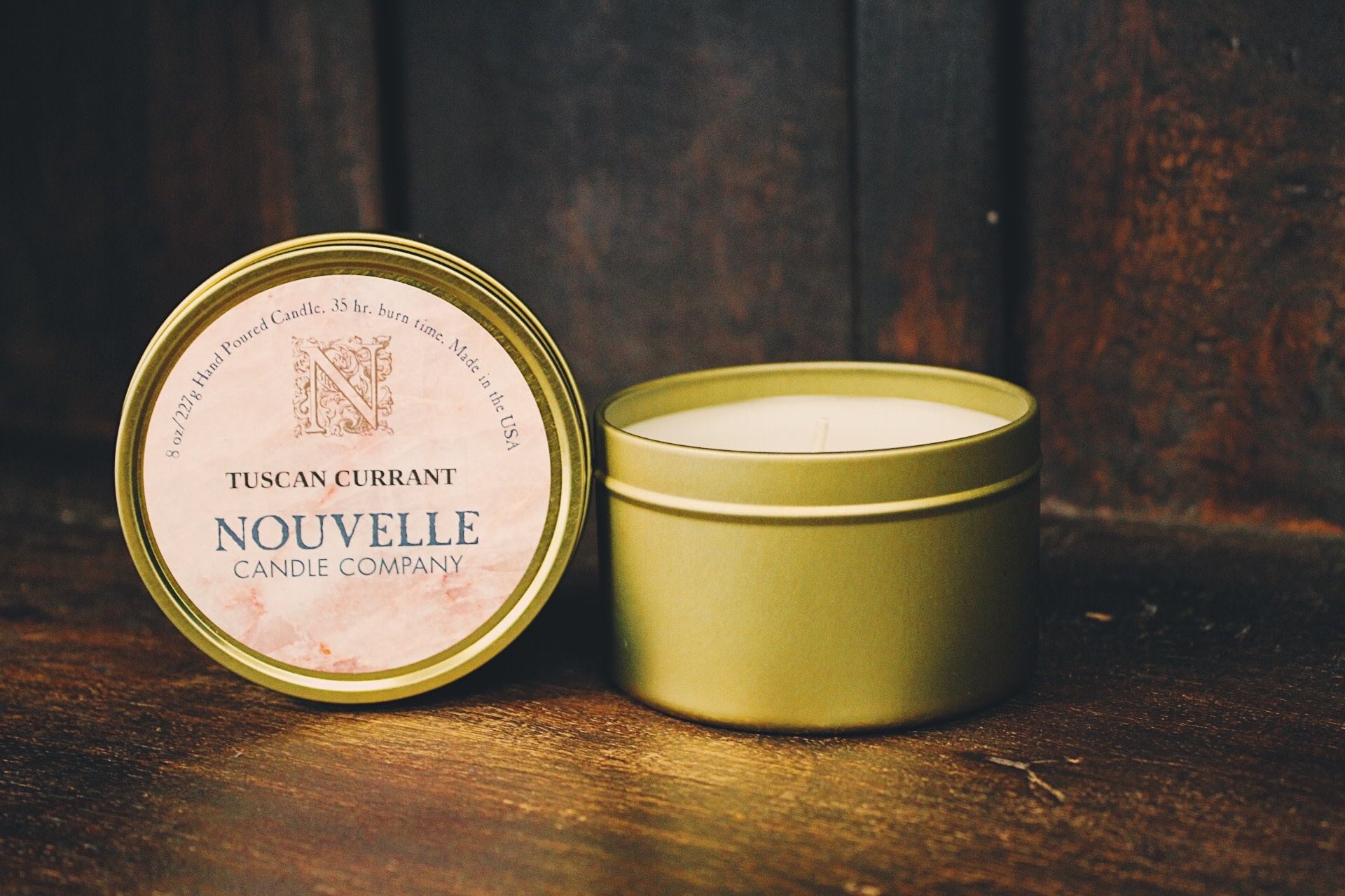 Nouvelle Candle Company Tuscan Currant Travel Tin