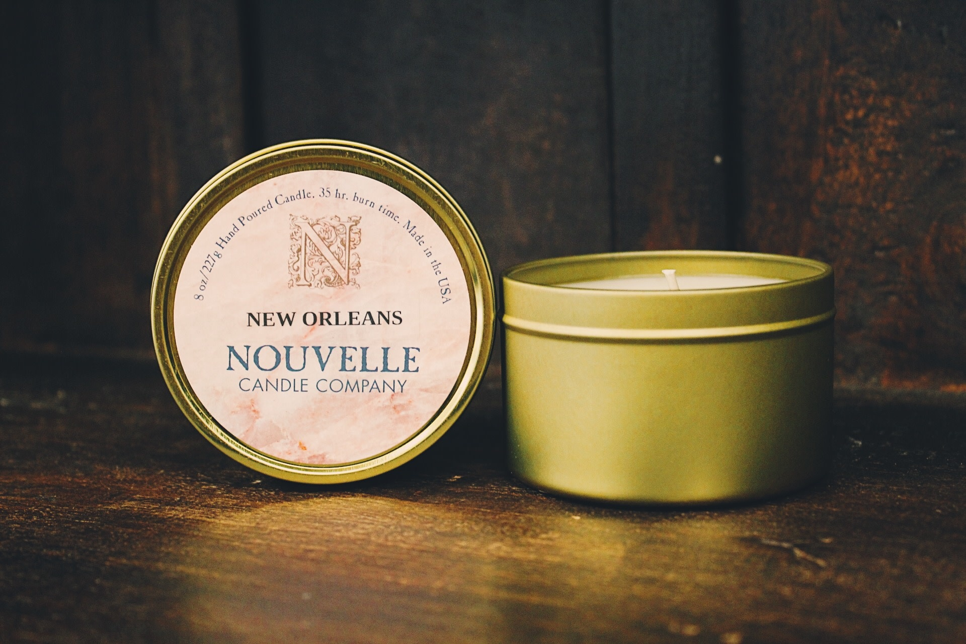 Nouvelle Candle Company New Orleans Travel Tin
