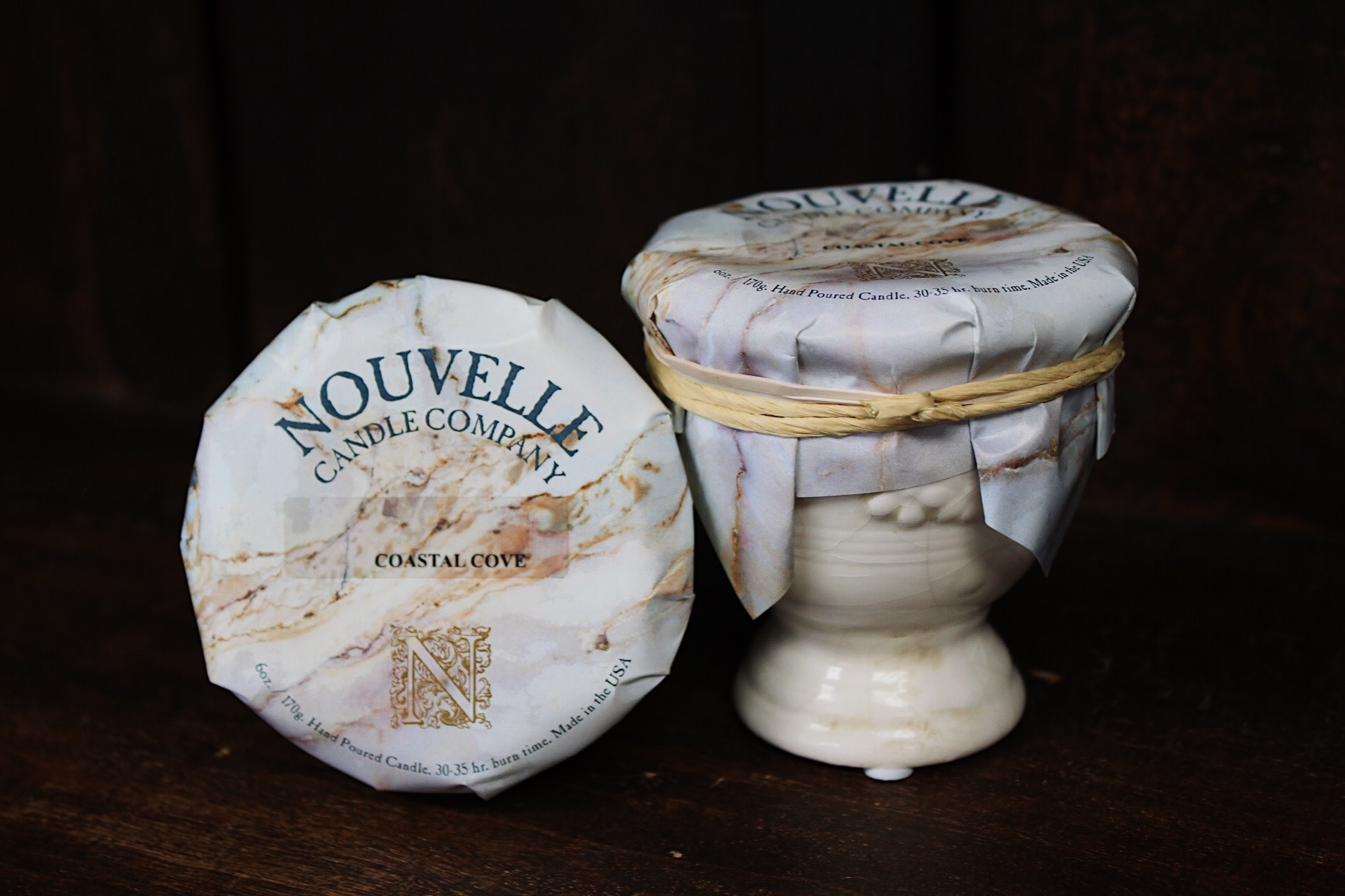 Nouvelle Candle Company Coastal Cove French Urn Petite
