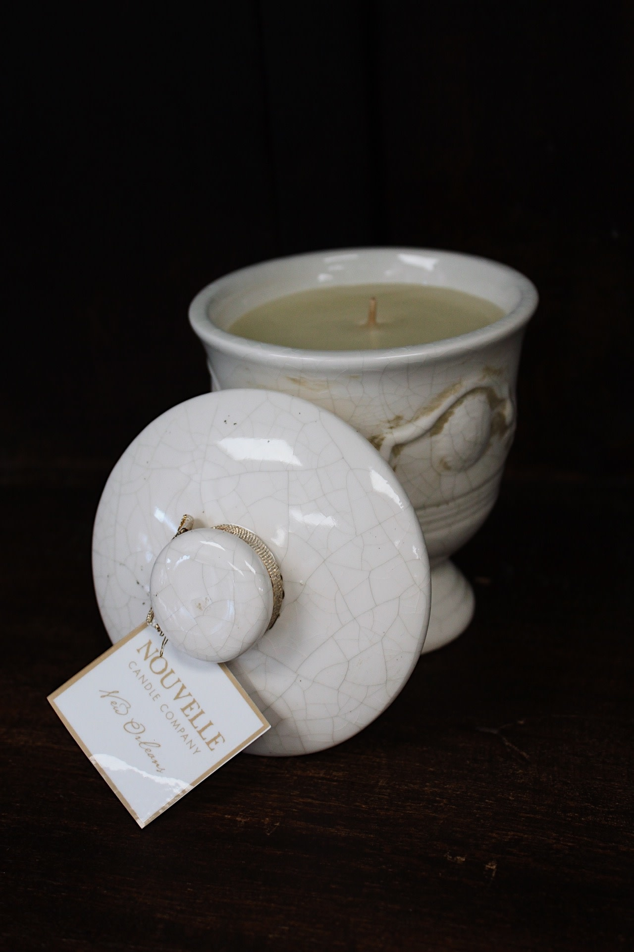 Nouvelle Candle Company New Orleans Medium Lidded French Urn