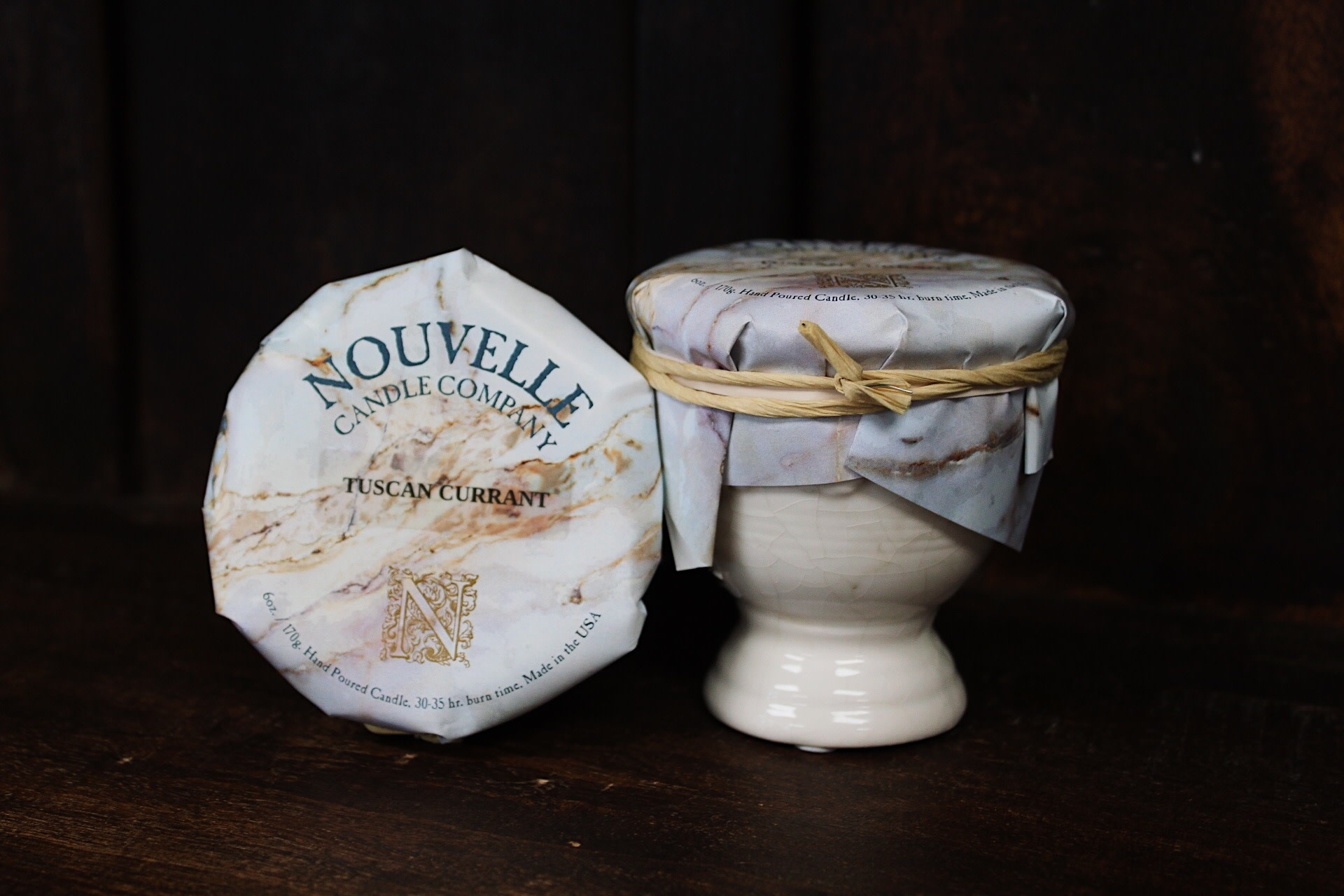 Nouvelle Candle Company Tuscan Currant Petite French Urn