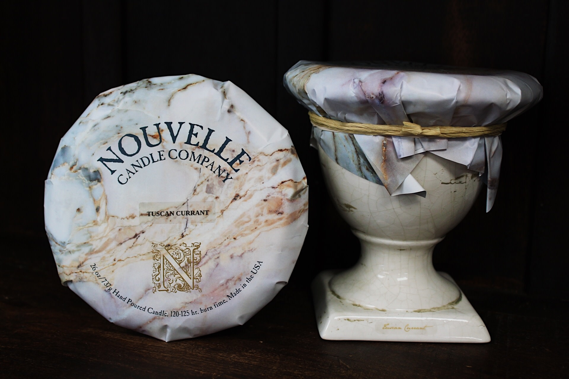Nouvelle Candle Company Tuscan Currant Tuscan Urn Large