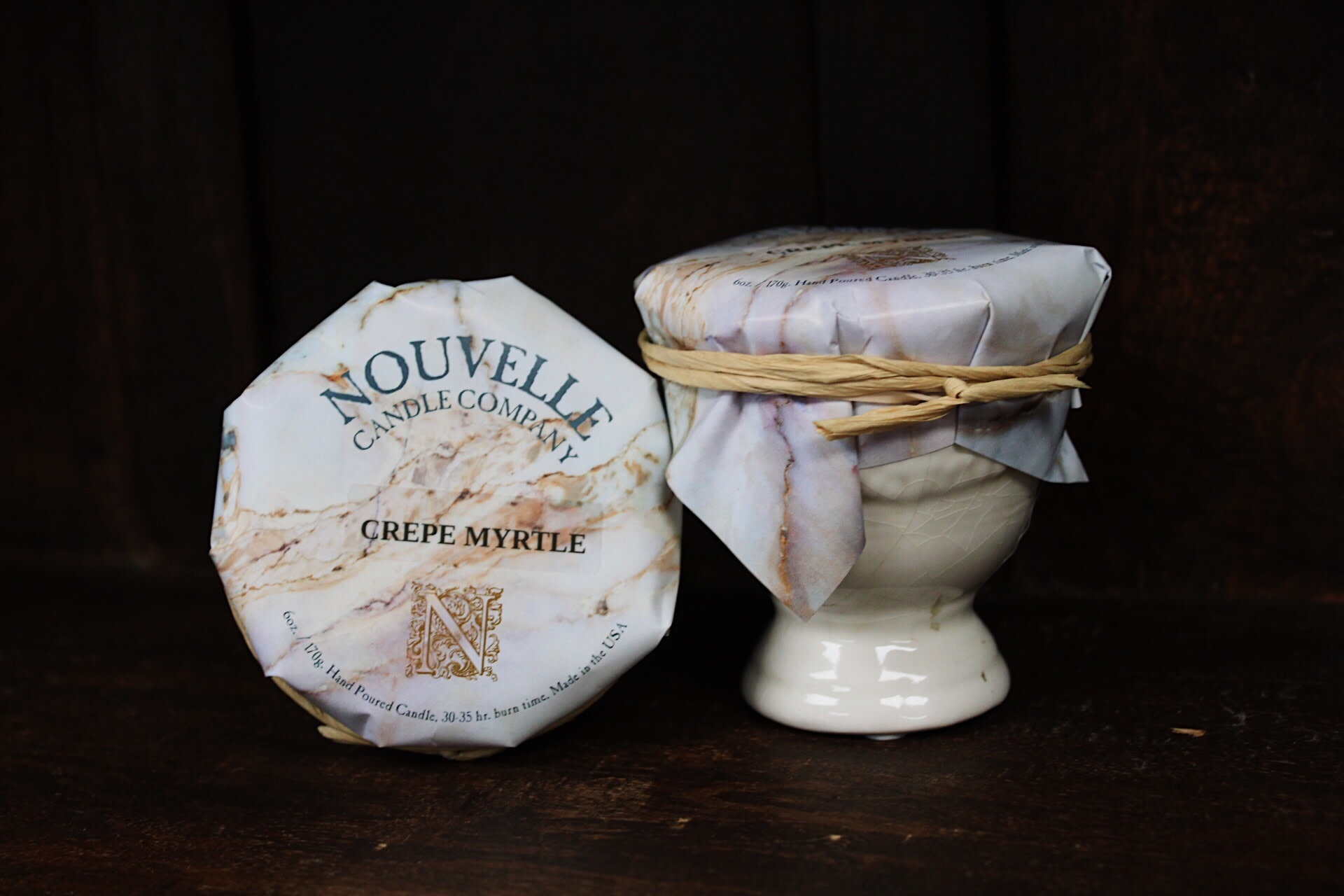 Nouvelle Candle Company Crepe Myrtle Petite French Urn