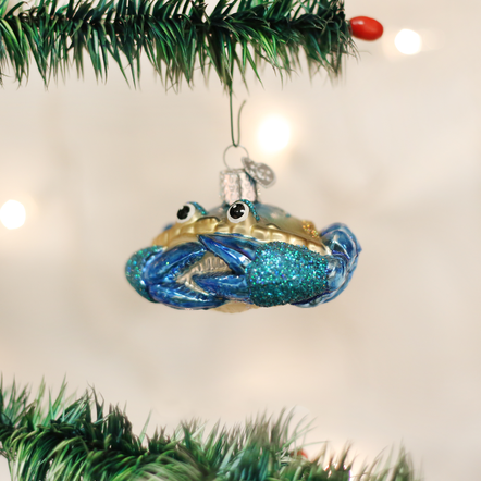Old World Christmas OWC Blue Crab Ornament