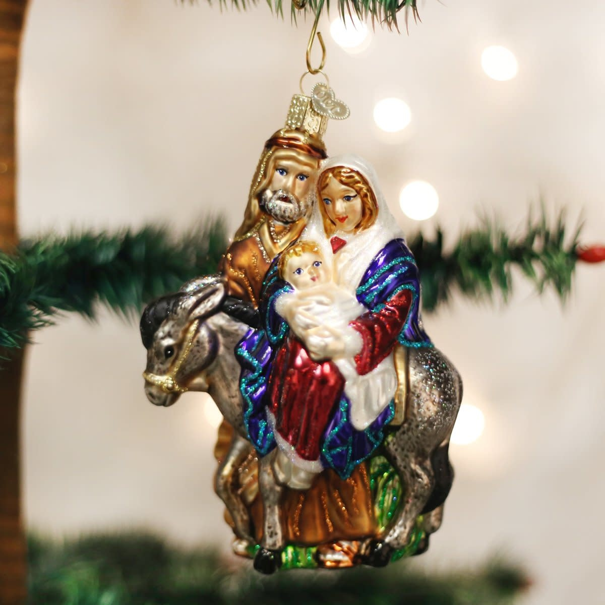 Old World Christmas OWC Flight To Egypt Ornament