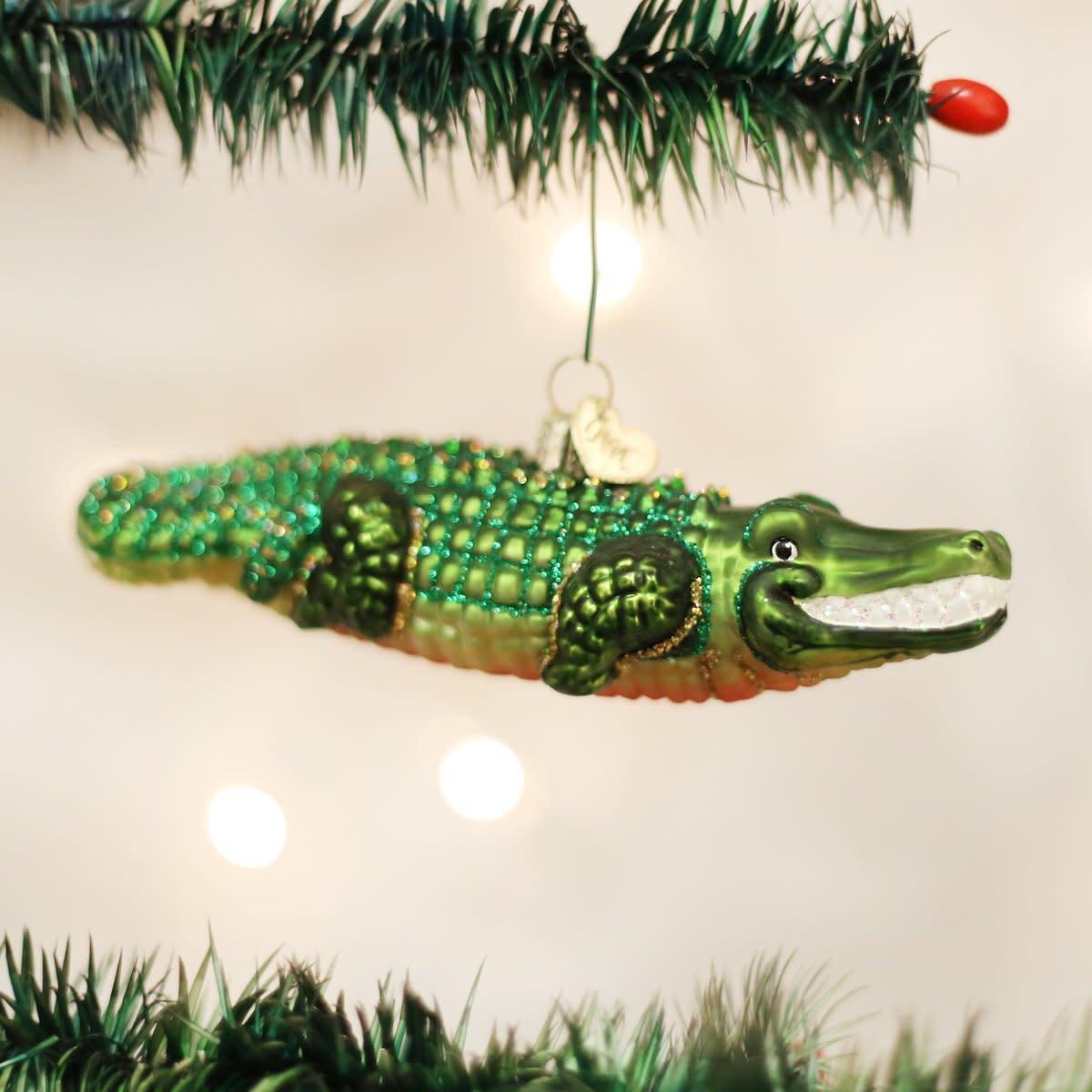 Old World Christmas OWC Alligator Ornament