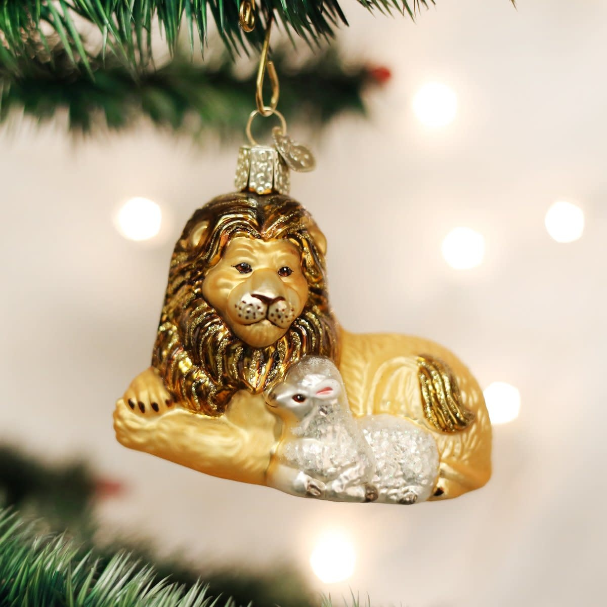Old World Christmas OWC Lion and Lamb Ornament