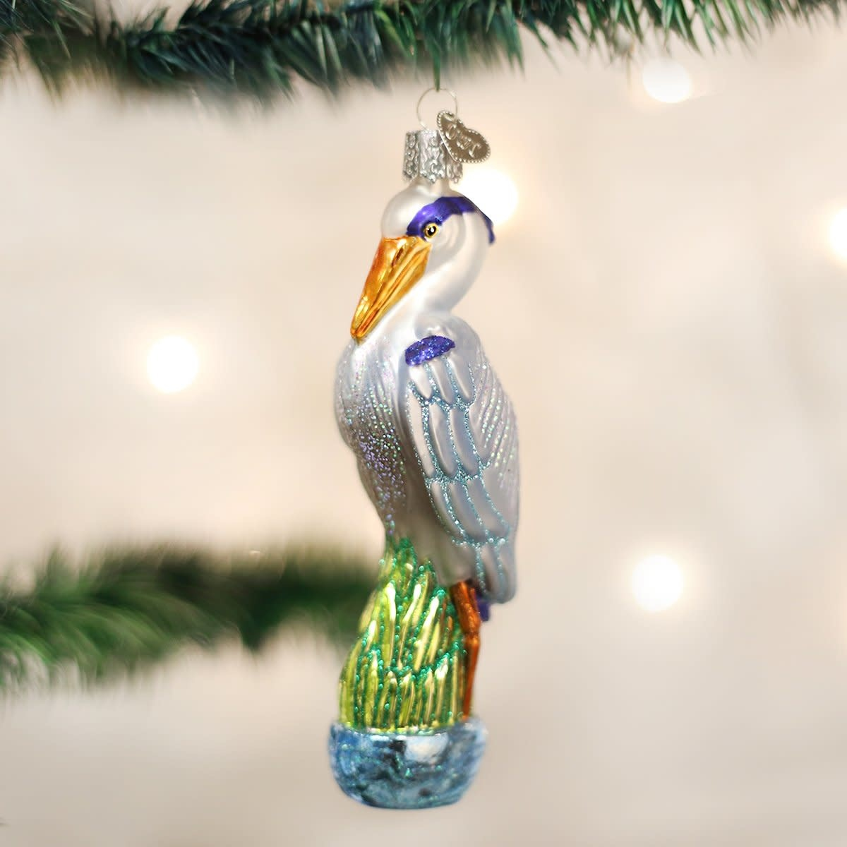 Old World Christmas OWC Great Blue Heron Ornament