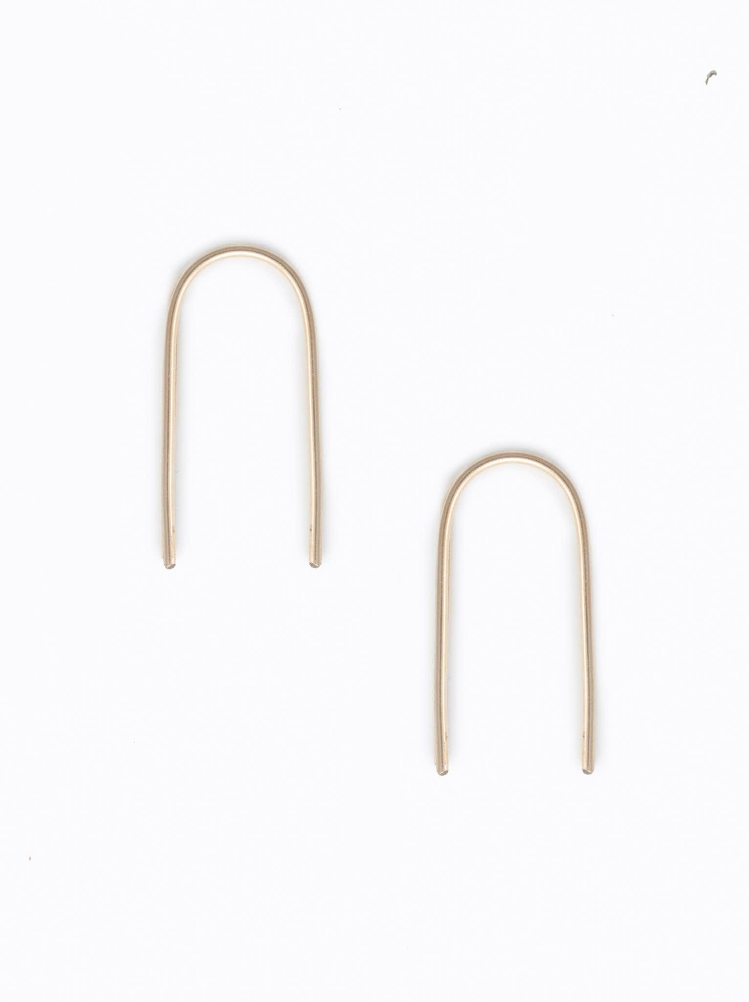 ABLE Gold Ear Arch Earrings