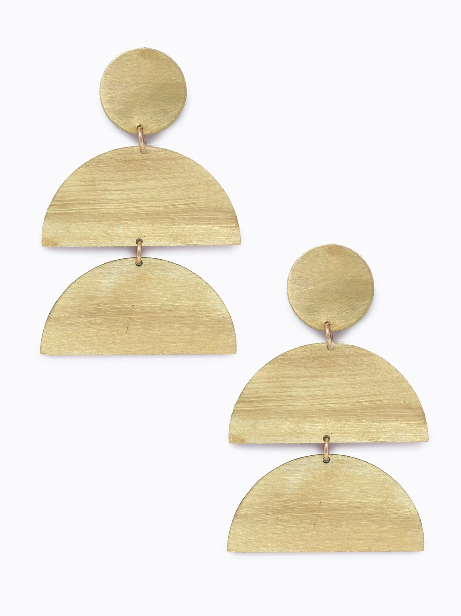 ABLE Brass Silhouette Earrings