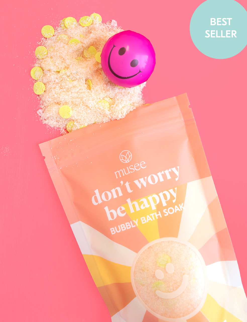 Musee Don't Worry Be Happy Bubbly Bath Soak