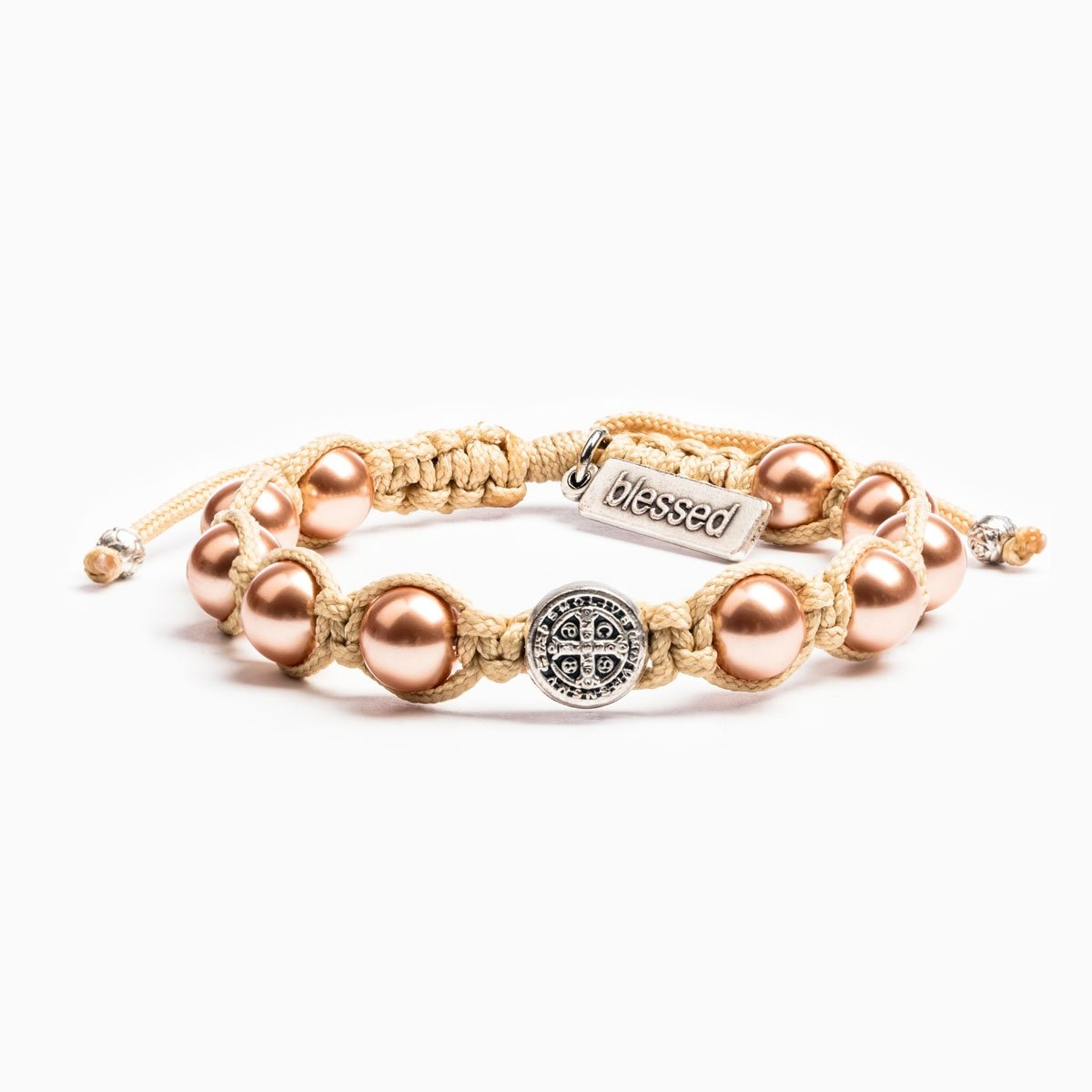 My Saint My Hero Divine Blessings Bracelet- Cream/Rose/Gold Pears/Silver
