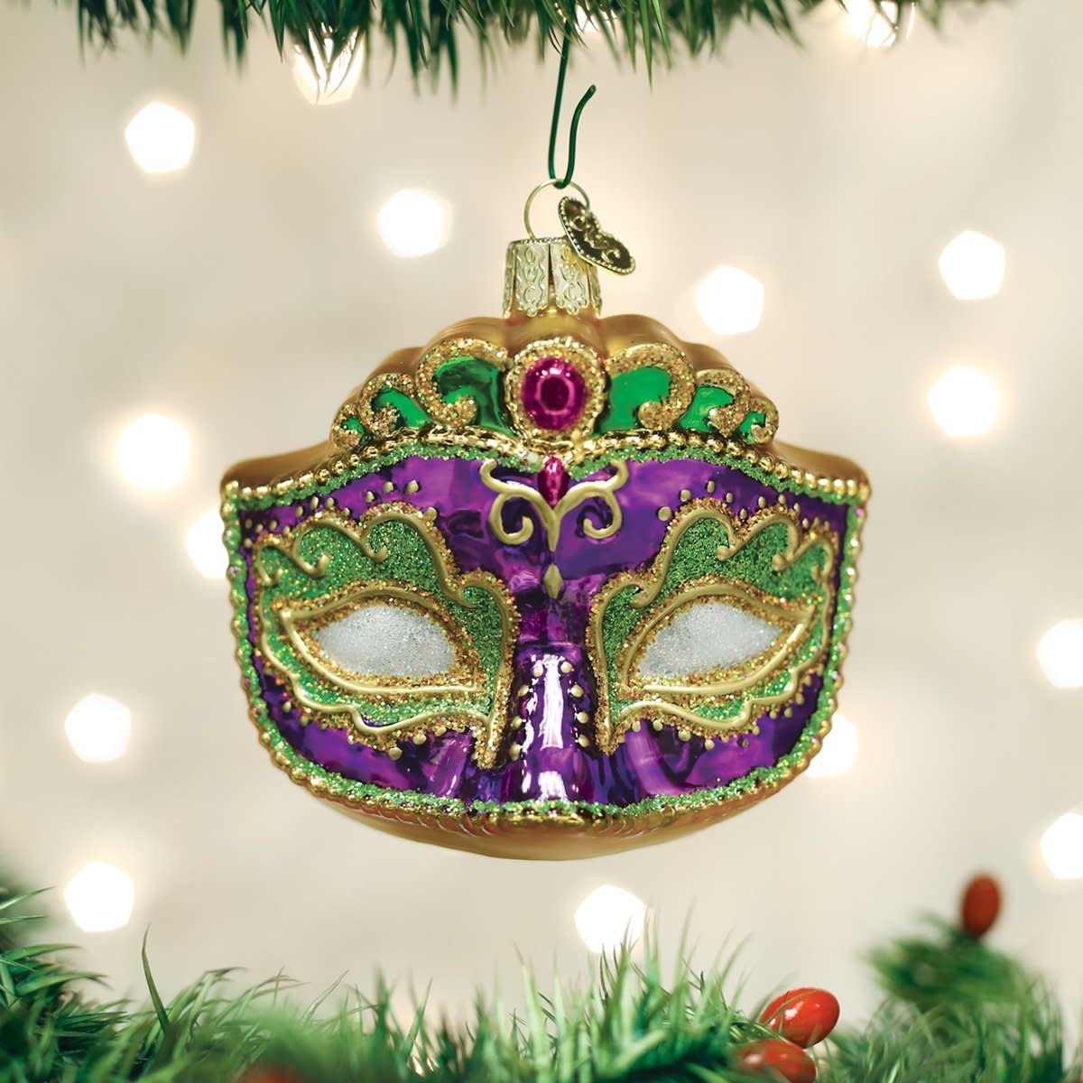 Old World Christmas OWC Mardi Gras Mask