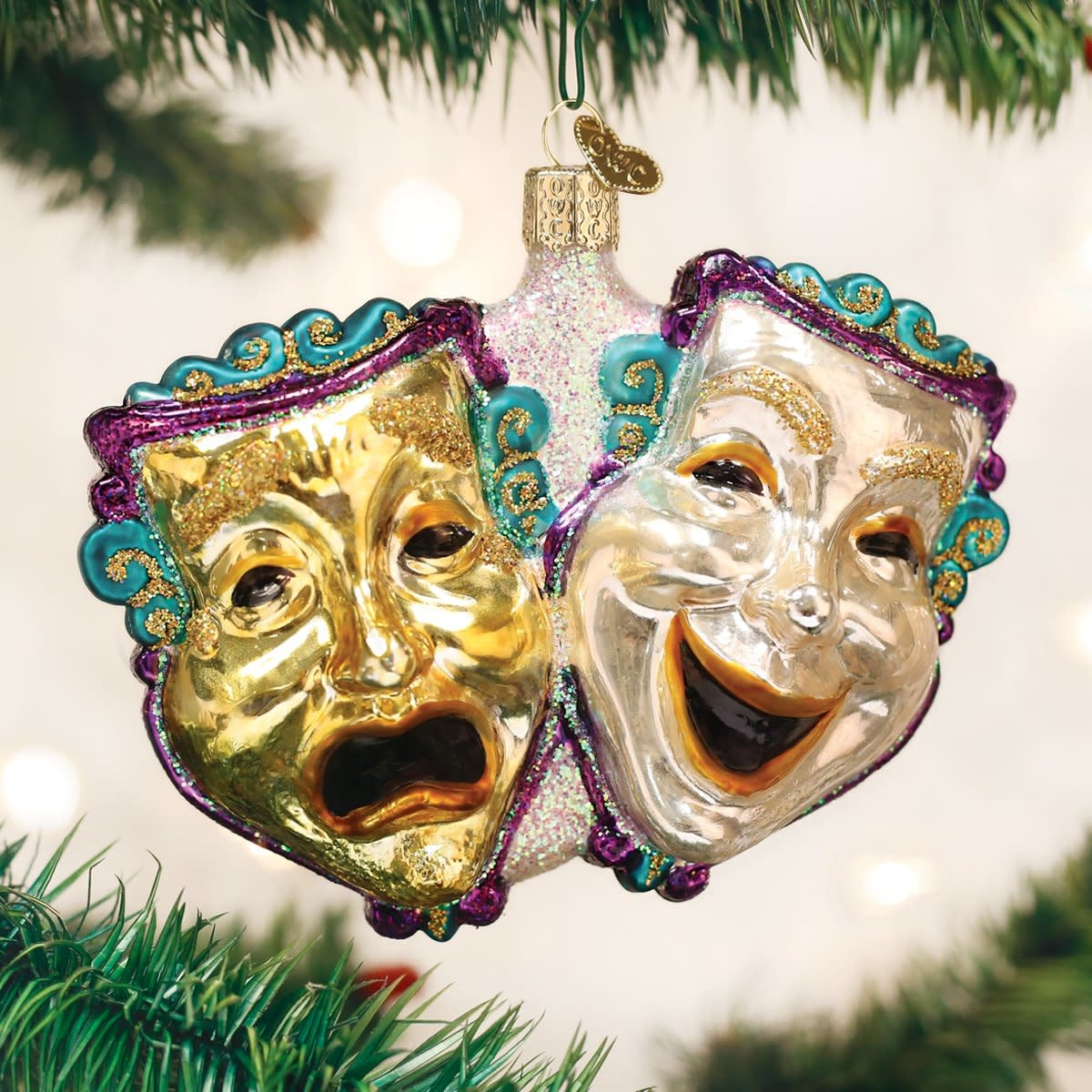 Old World Christmas OWC Comedy and Tragedy Ornament