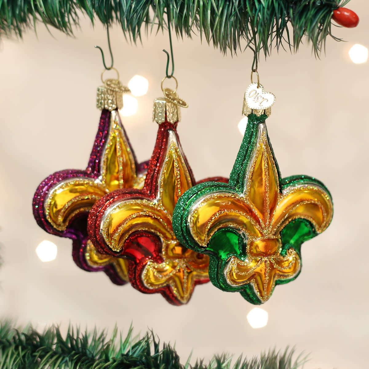 Old World Christmas OWC Fleur-De-Lis Ornament