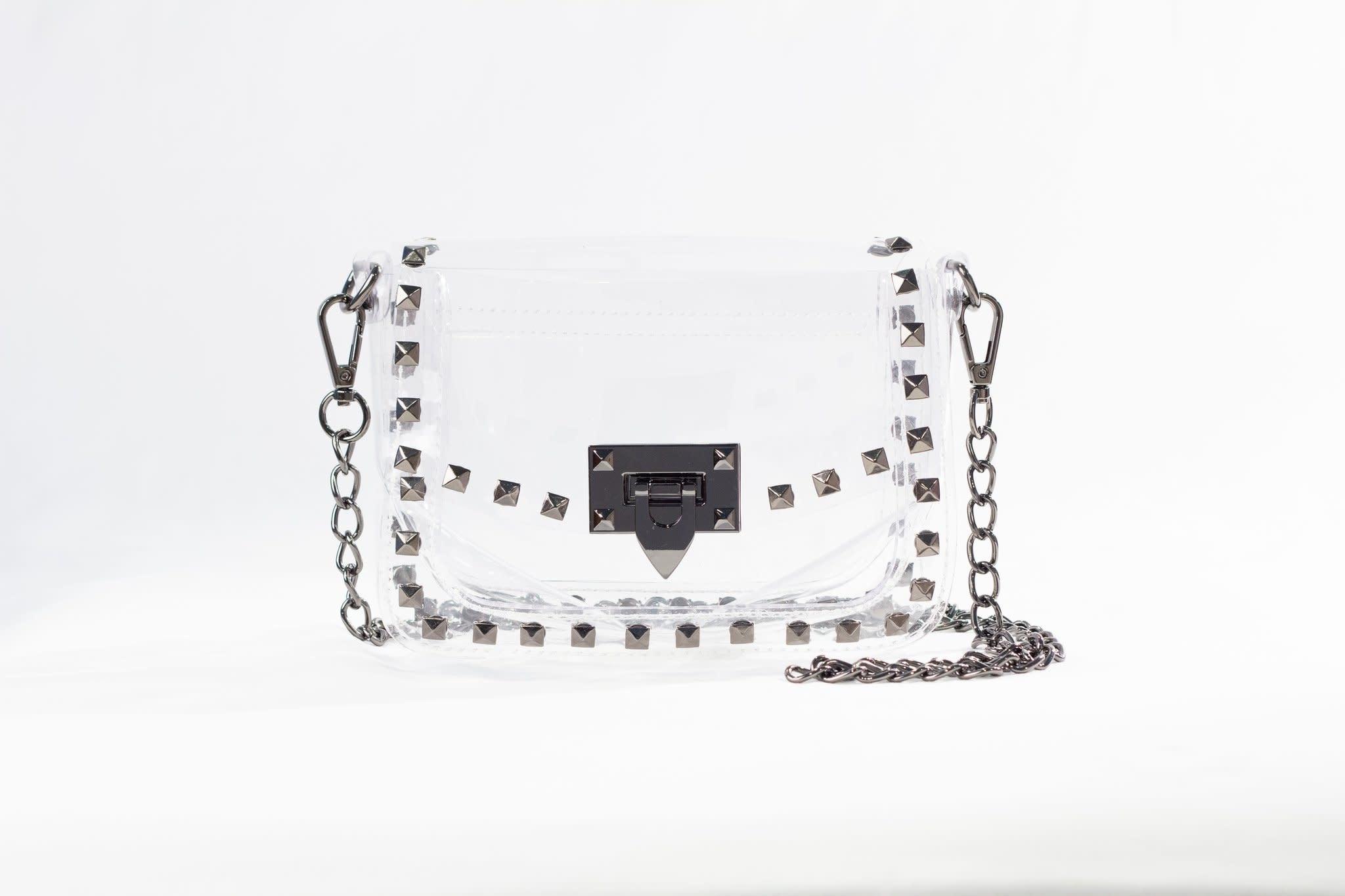 Clearly Handbags Jackie Gunmetal Purse