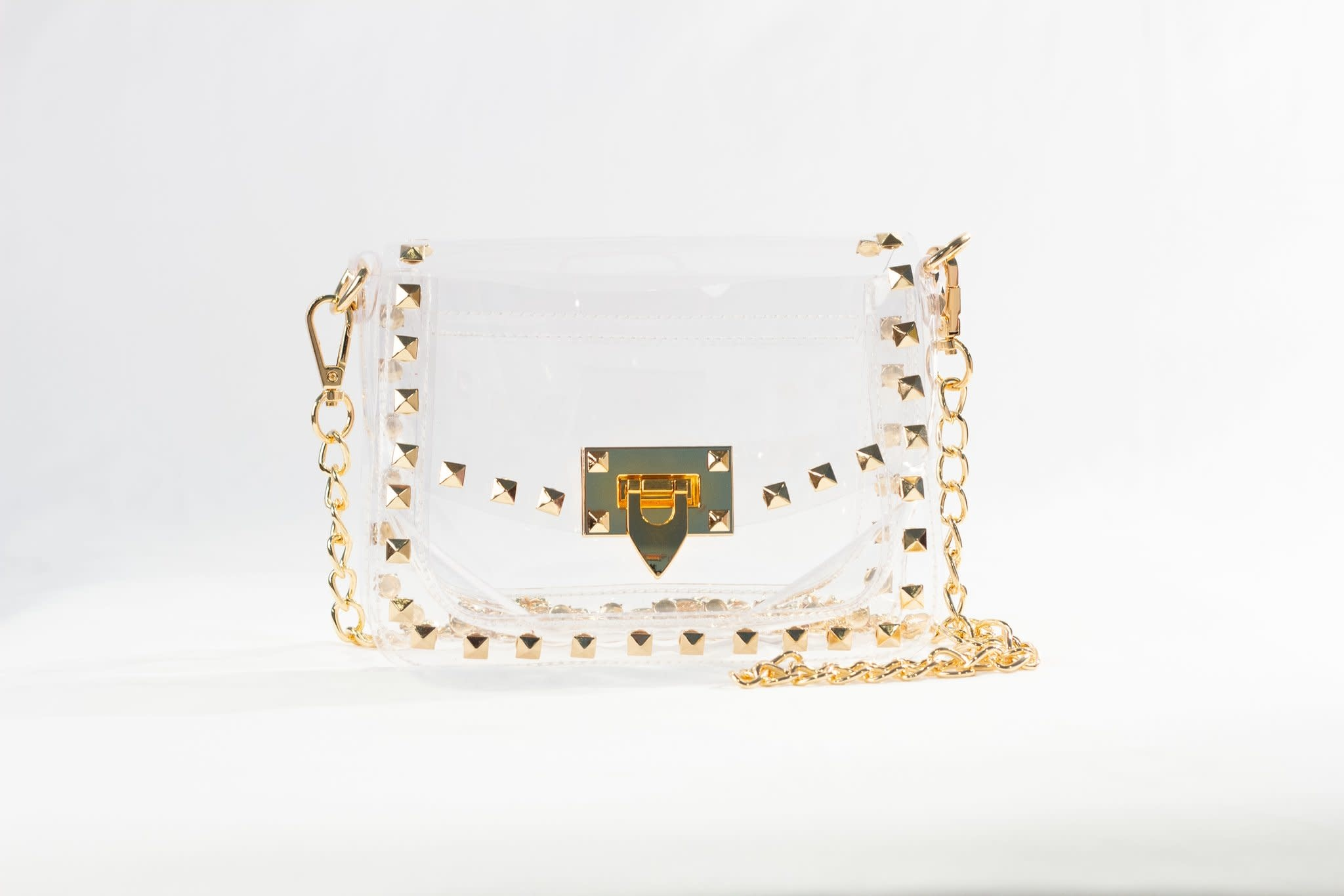 Clearly Handbags Jackie Gold Purse