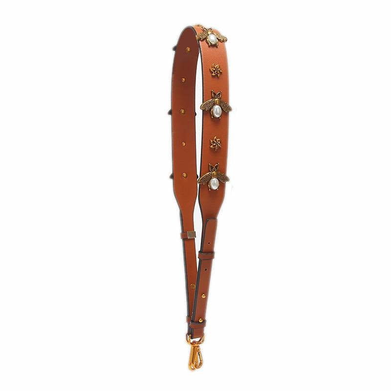 Clearly Handbags Bee Strap in Saddle