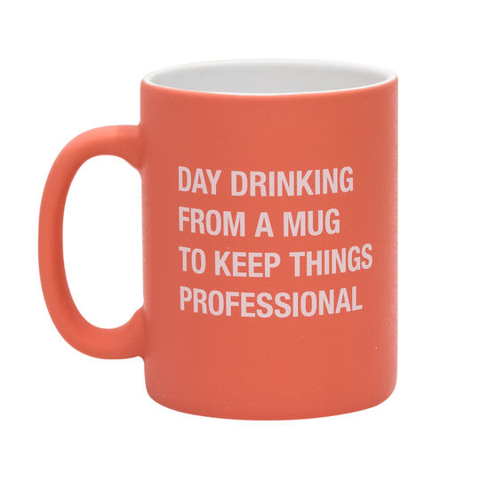 About Face Designs Day Drinking Stoneware Mug