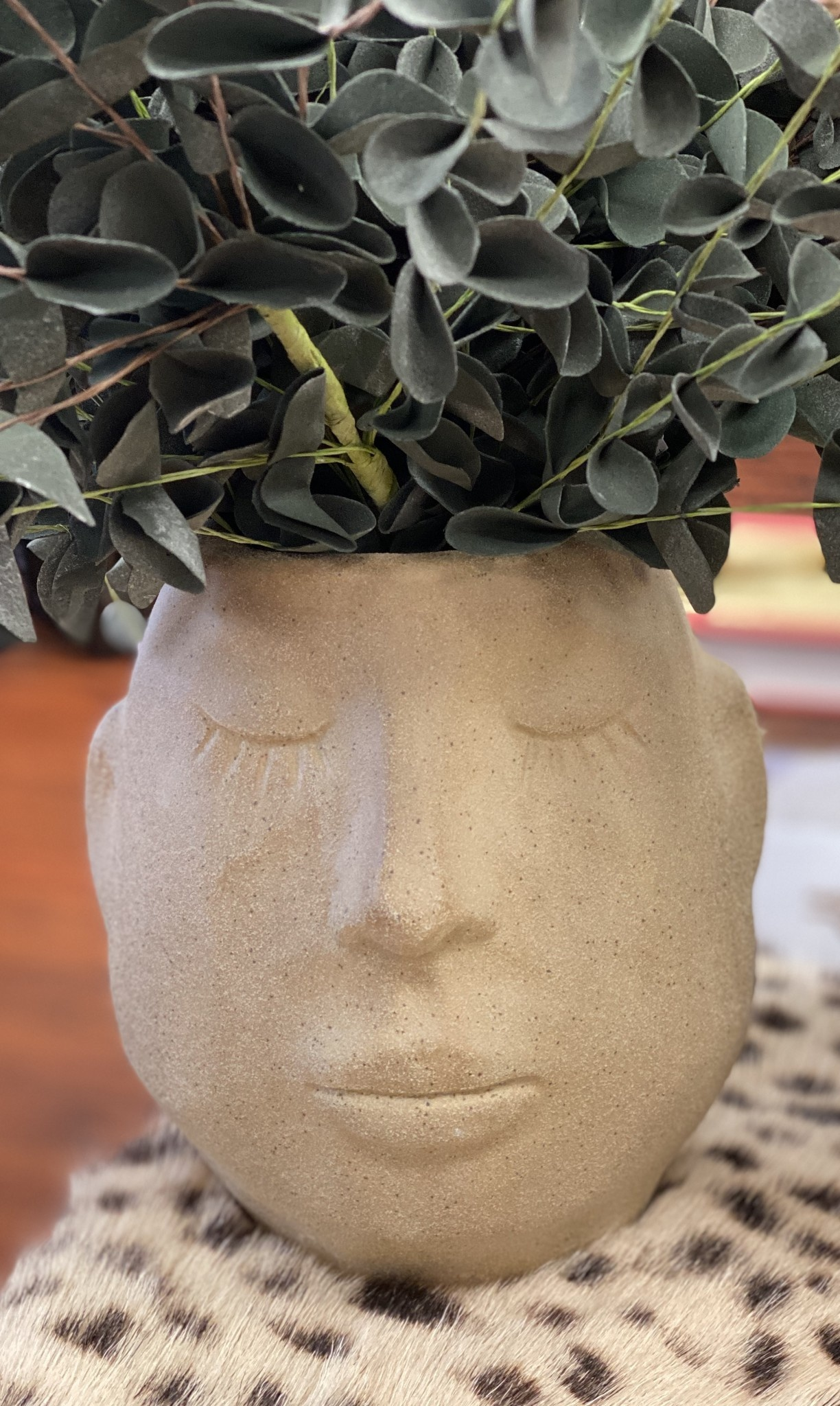 Kalalou Ceramic Face Planter Large
