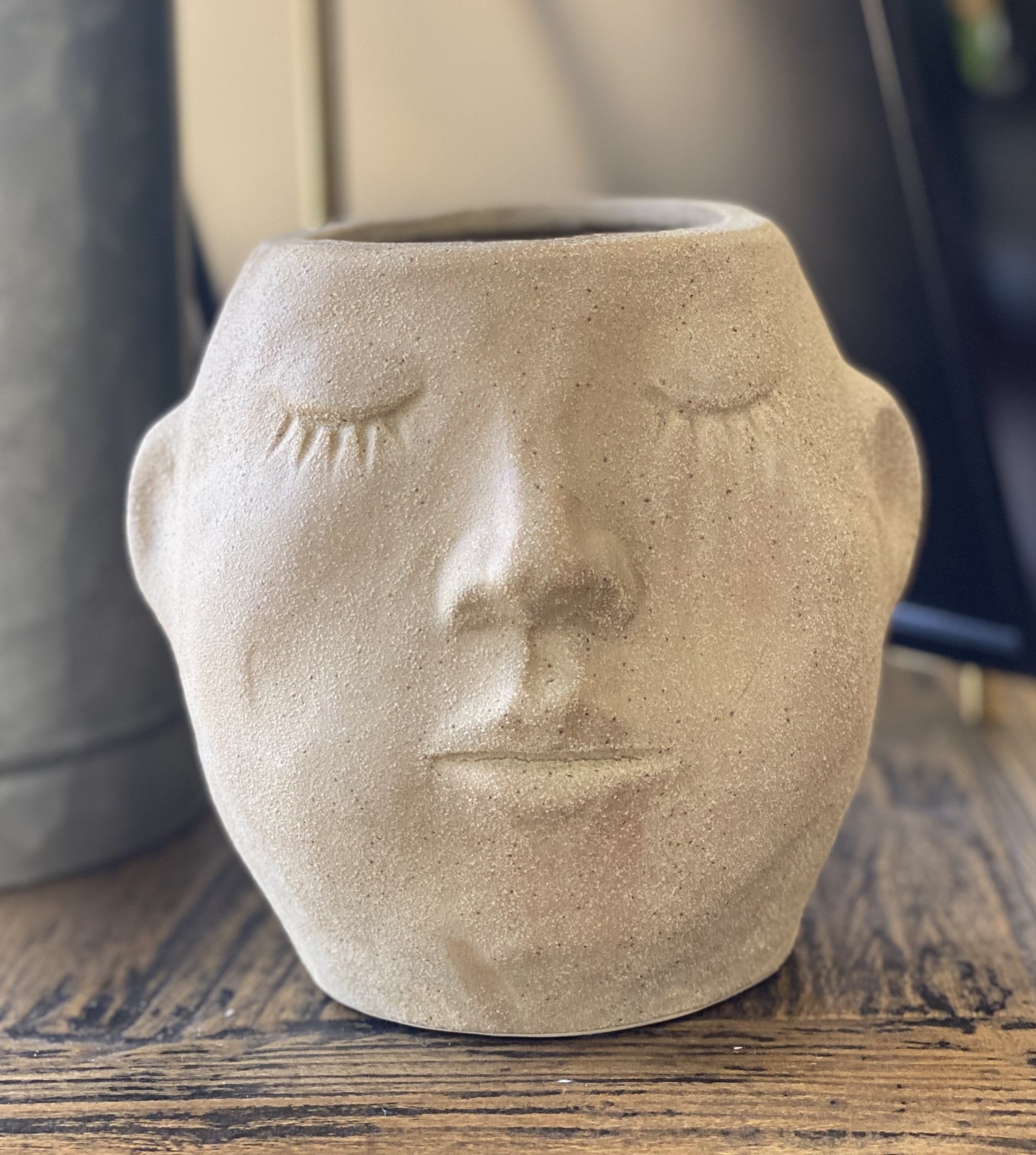 Kalalou Ceramic Face Planter Small