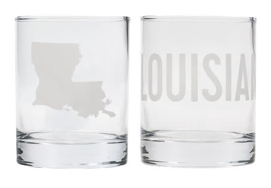 About Face Designs Louisiana Rocks Glass Set