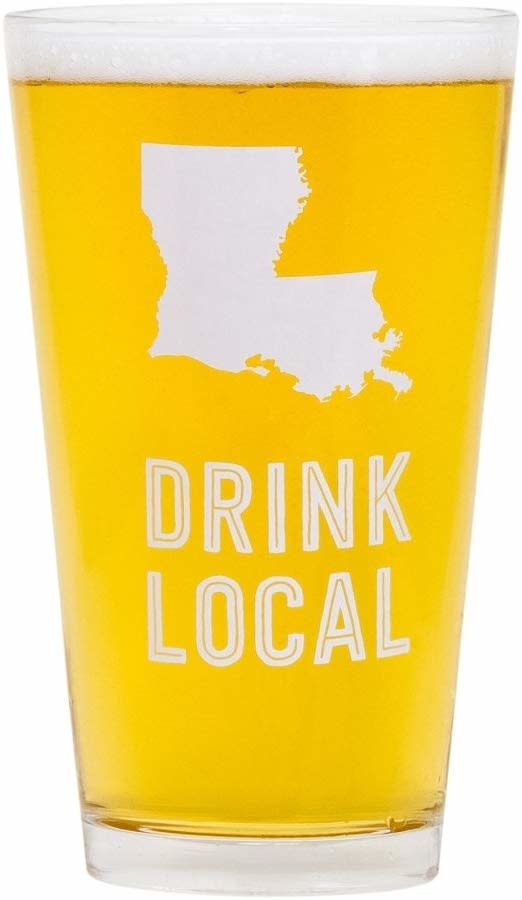About Face Designs Louisiana Pint Glass