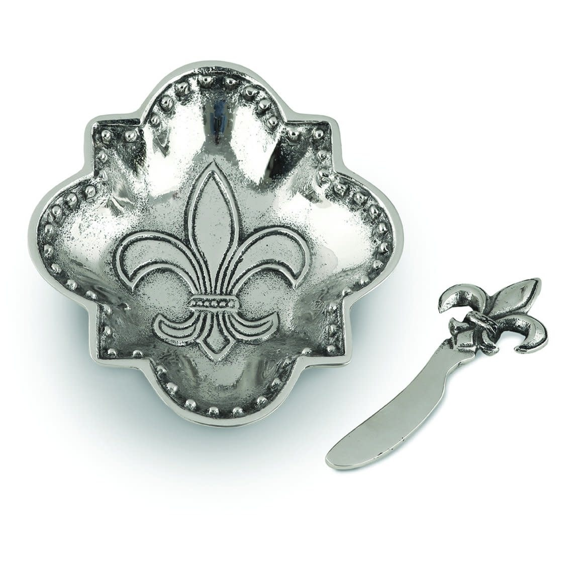 Star Home Designs Fleur De Lis serving dish/spreader