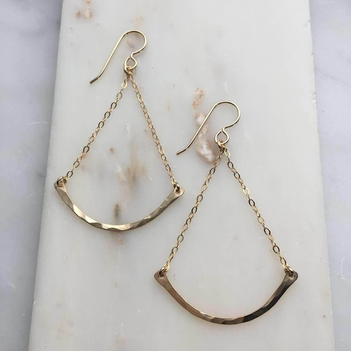 Token Jewelry Trapeze Earrings/Gold Fill