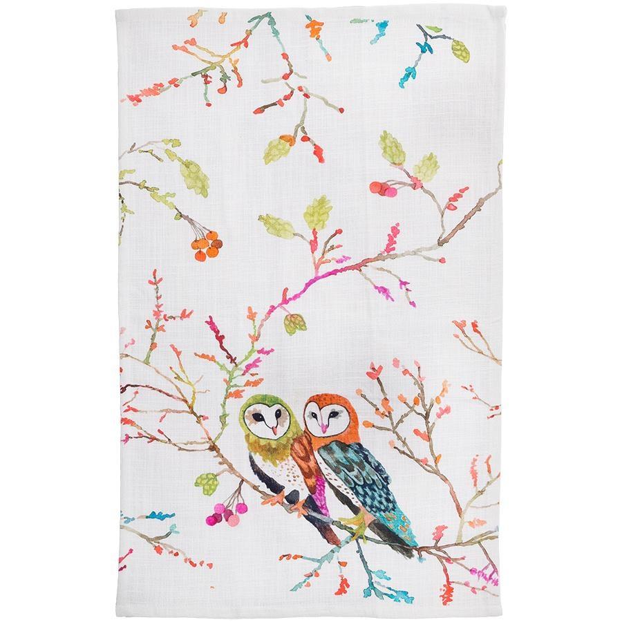 Betsy Olmstead Barn Owls Tea Towel