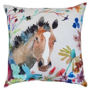Betsy Olmstead Horse Pillow