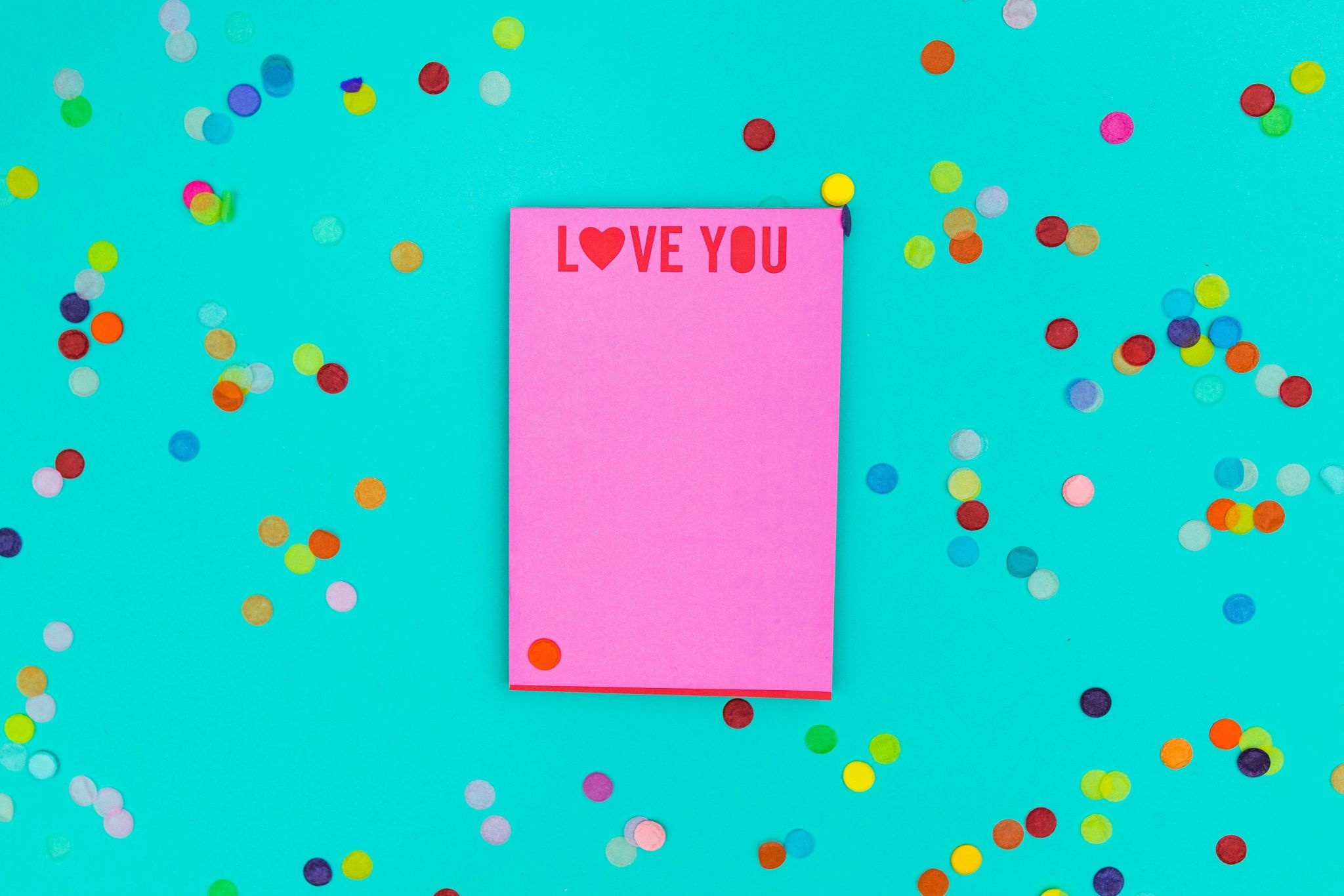 Taylor Elliott Love You 4x6 Notepad