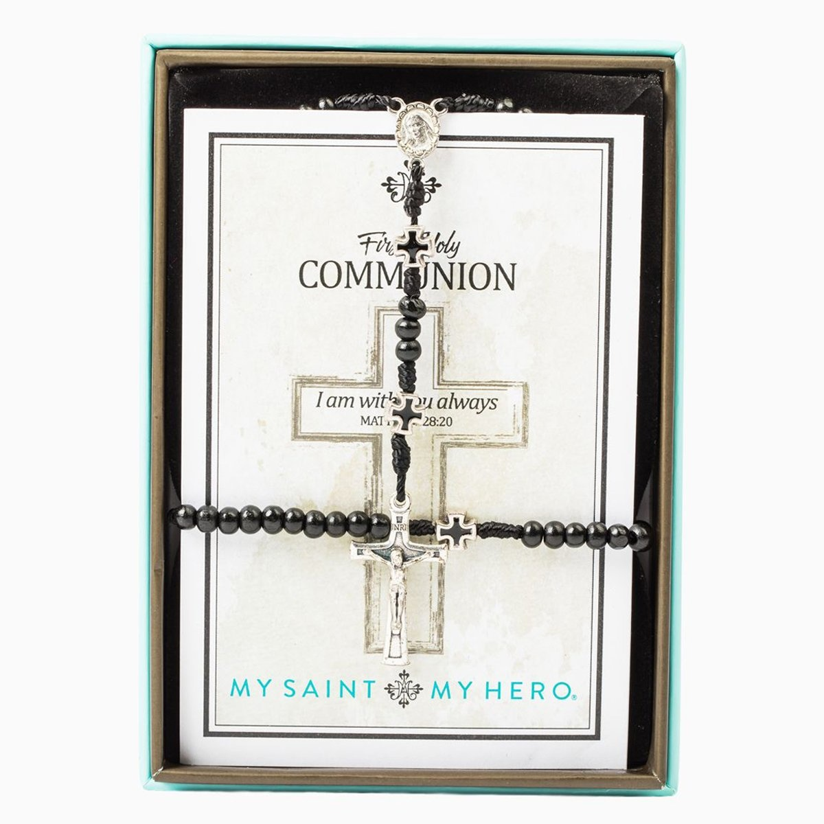 My Saint My Hero In Communion Men's Rosary & Bracelet Set