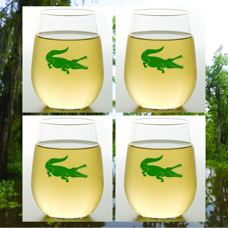 Wine-Oh! Gator Shatterproof Wine Glasses Set of 4