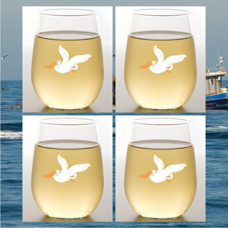 Wine-Oh! Pelican Shatterproof Wine Glasses Set of 2