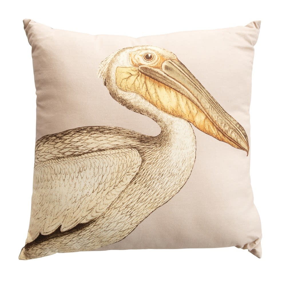 "Creative Co-Op 24"" Brown Pelican Pillow"