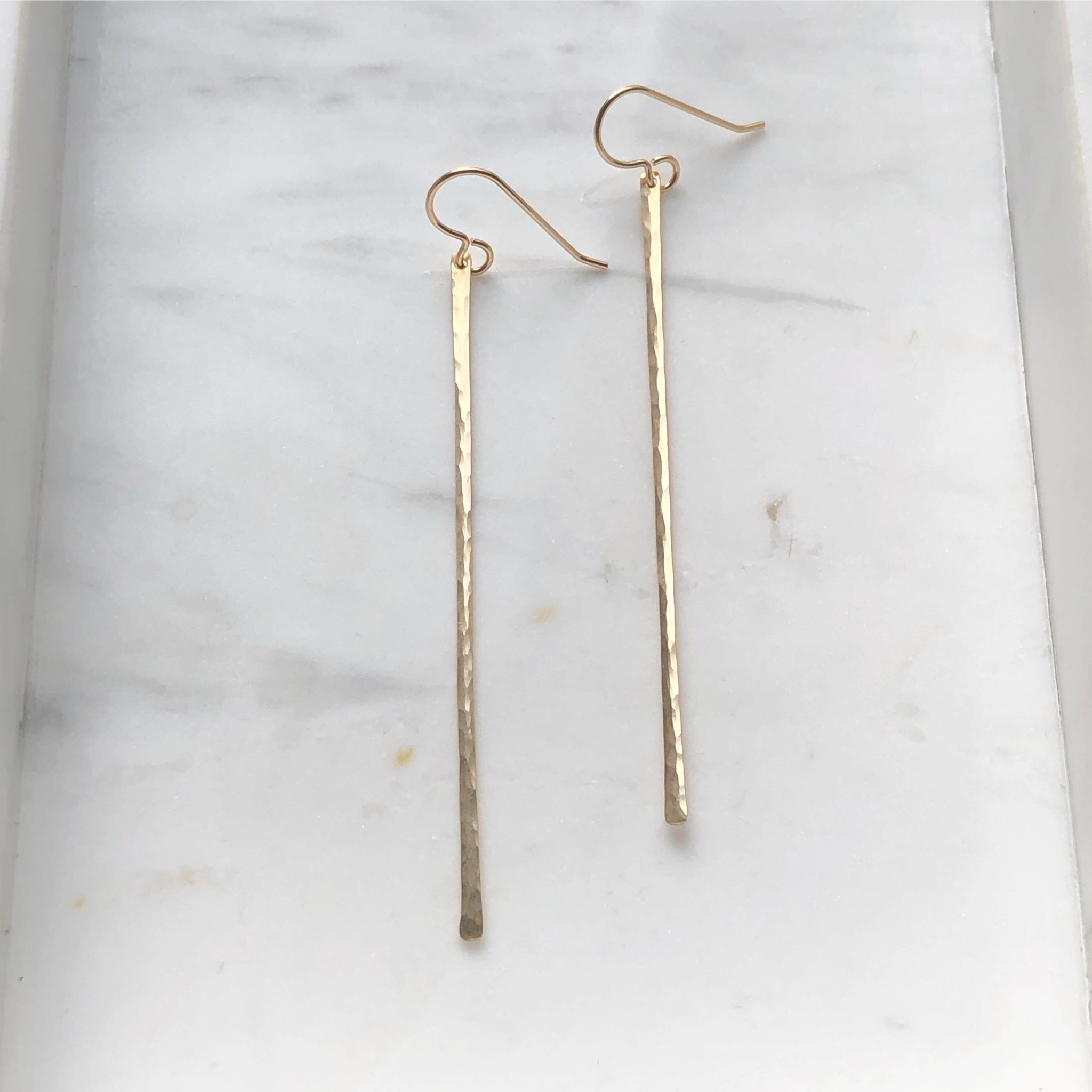 Token Jewelry Matchstick Earrings Gold