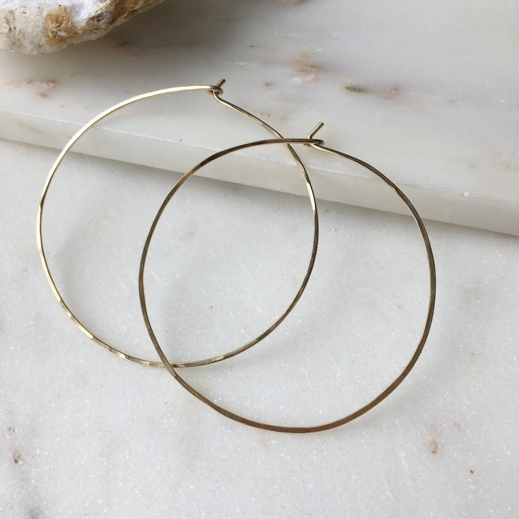 Token Jewelry Organic Hoops Large 14k Gold Fill