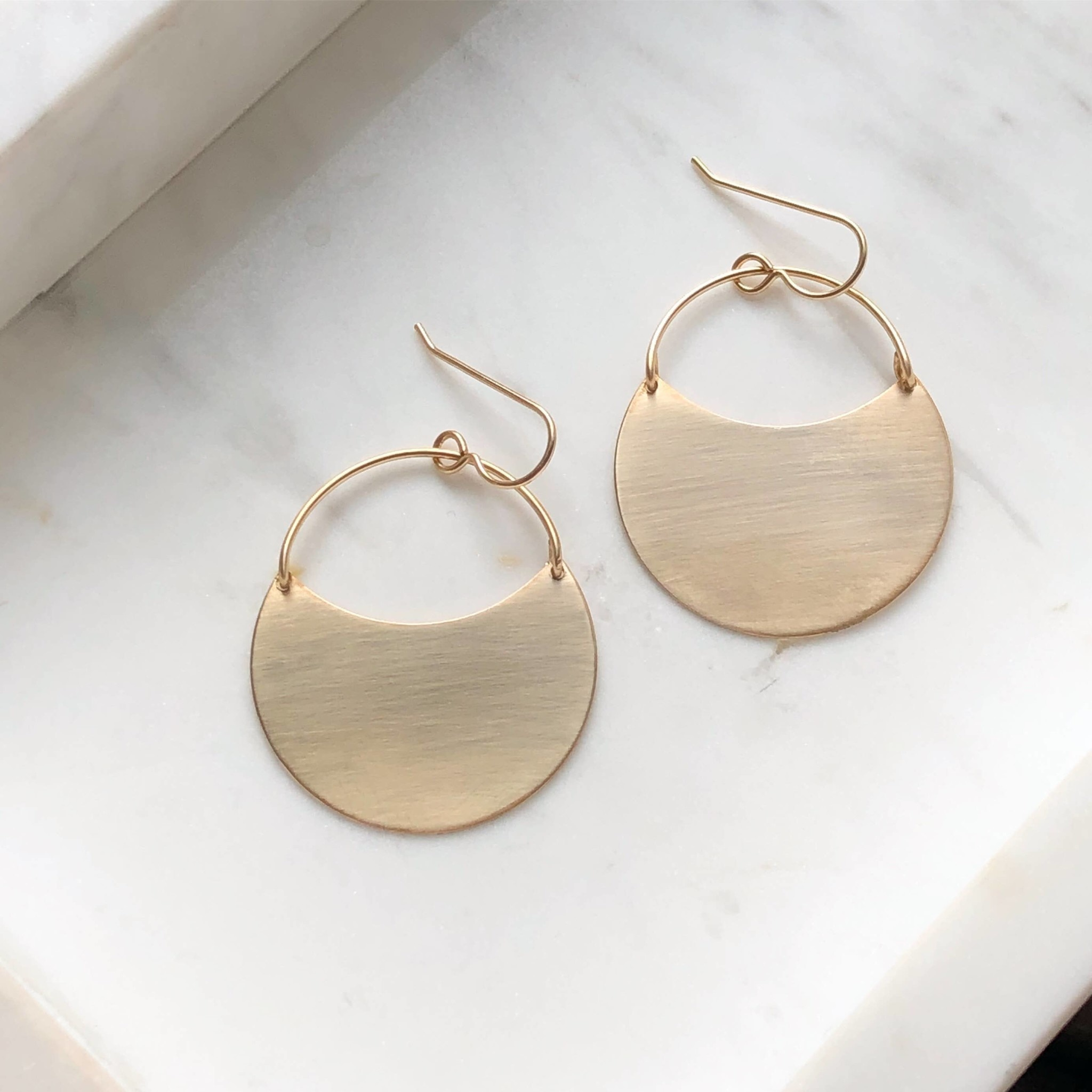Token Jewelry Theia Earrings 14k Gold Fill Large
