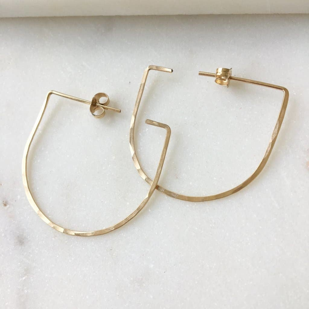 Token Jewelry Sake Earrings 14k Gold Fill