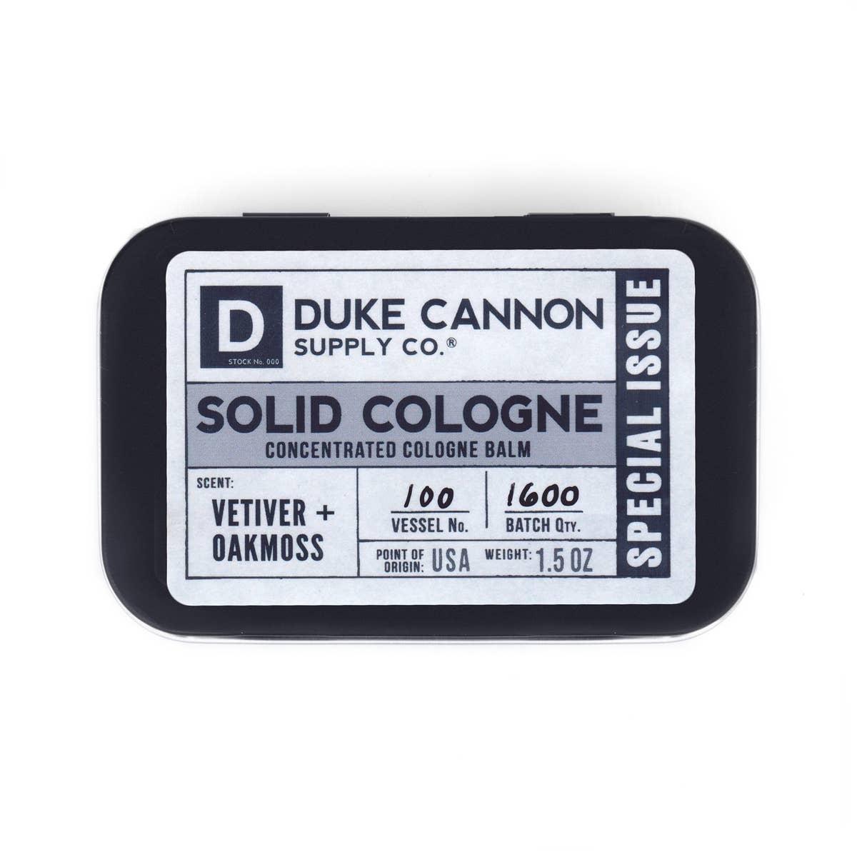 Duke Cannon Solid Cologne/Vetiver Oakmoss
