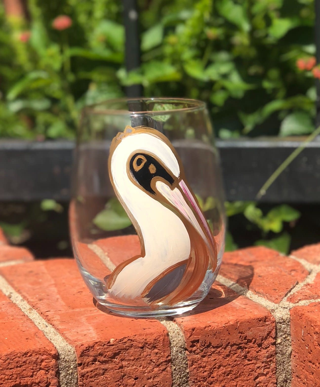318 Art & Garden Fall Pelican Stemless Wine Glass