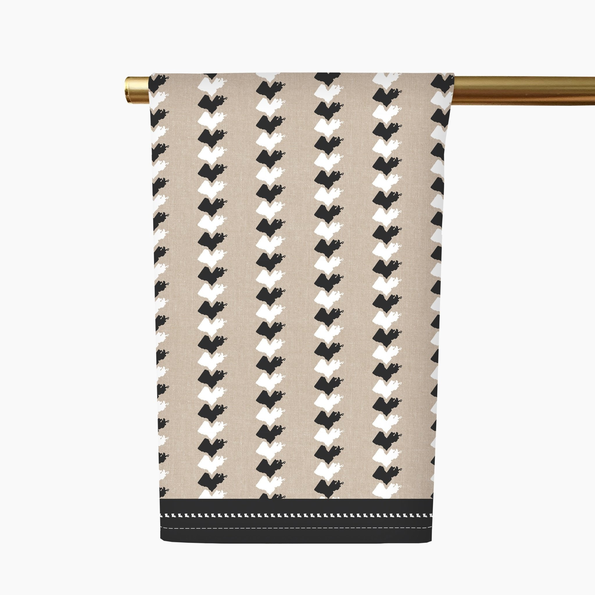 Honey + Hank Louisiana Stripe Tea Towel-Linen/Black