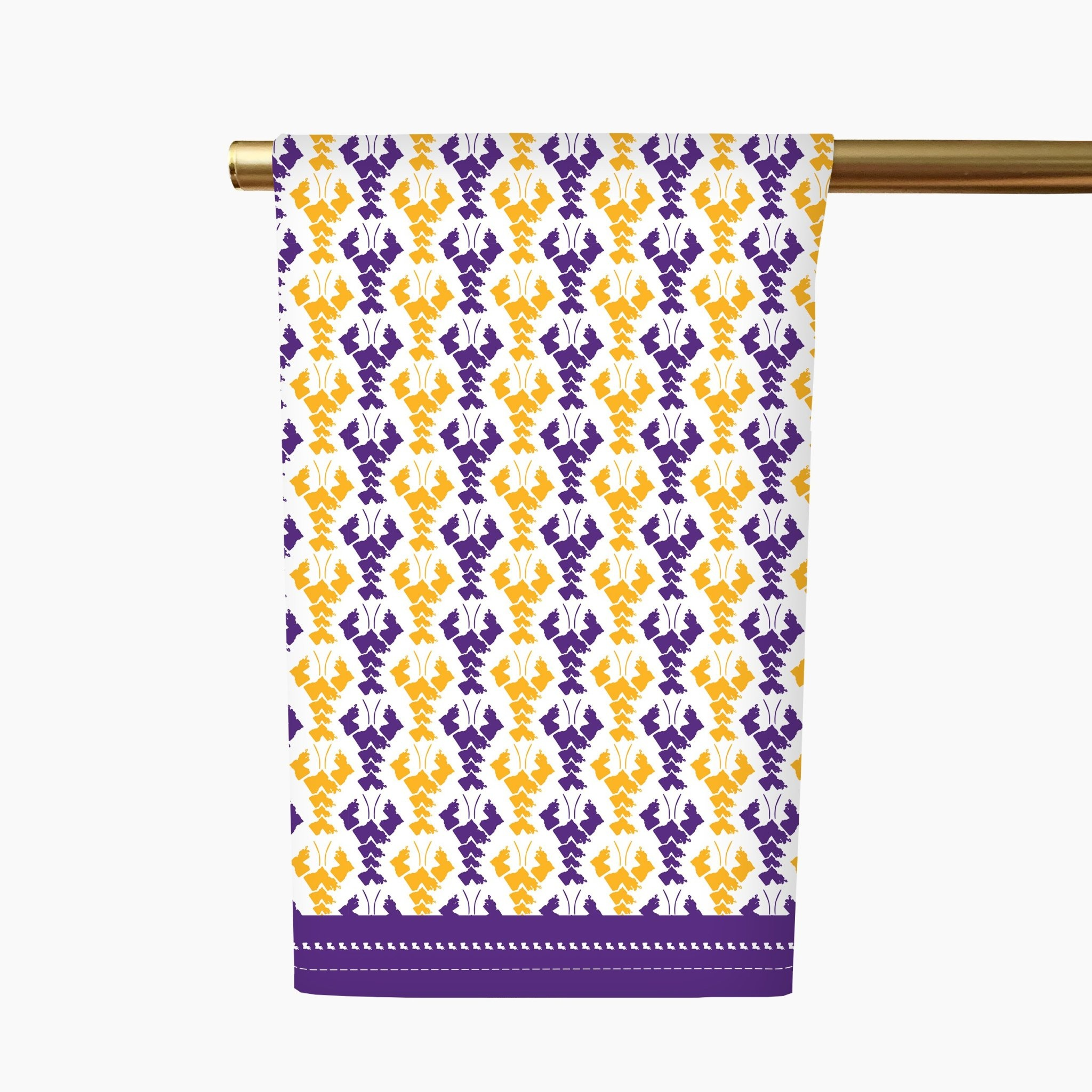 Honey + Hank Louisiana Crawfish Tea Towel-Purple/Gold