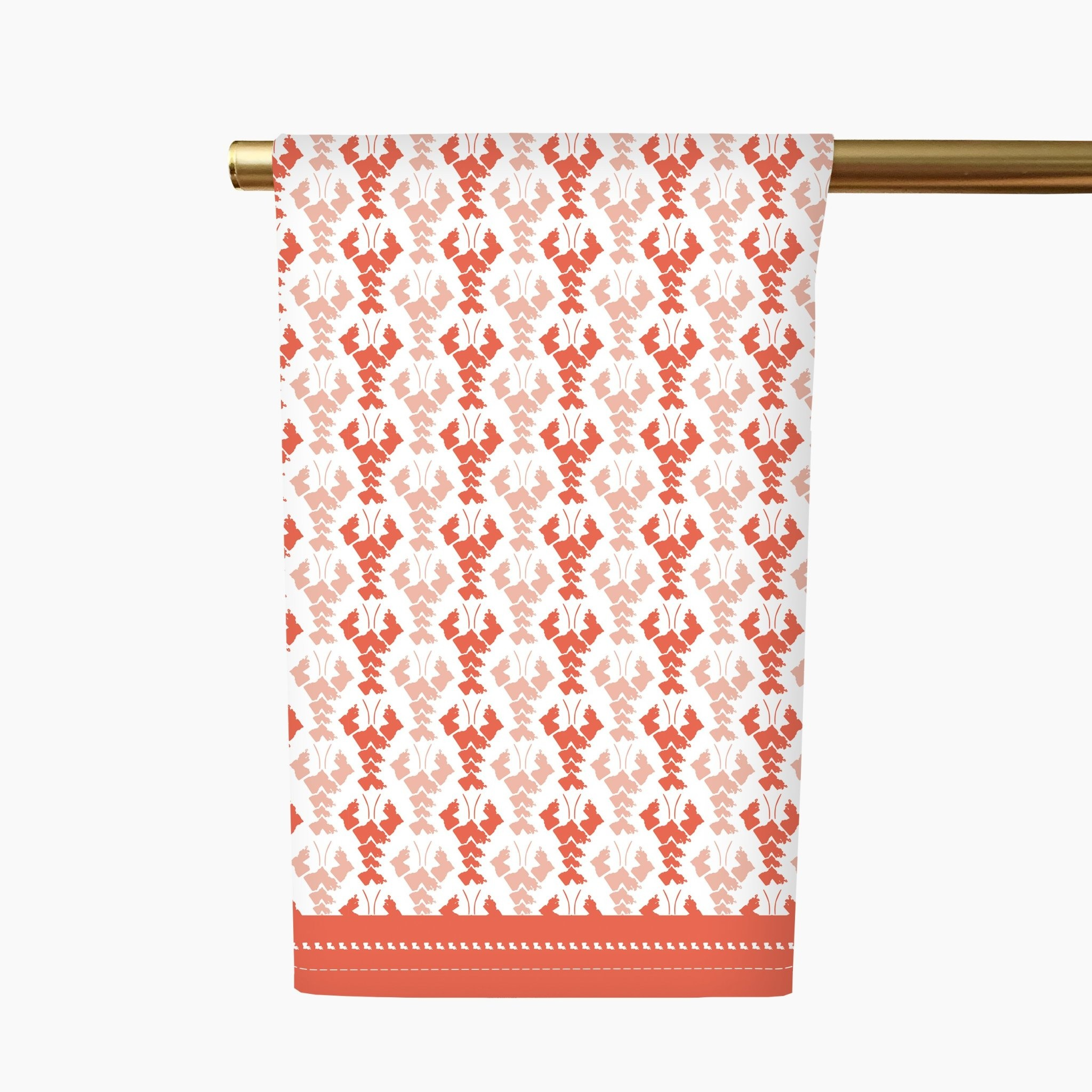 Honey + Hank Louisiana Crawfish Tea Towel-Coral